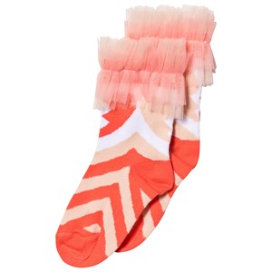 Image of Raspberry Plum Peach and Pink Patterned Frill Saverine Socks 7-8 years (3125297015)