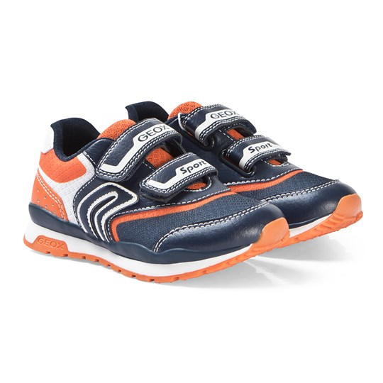 Geox Navy/Orange Pavel Sneakers C0659