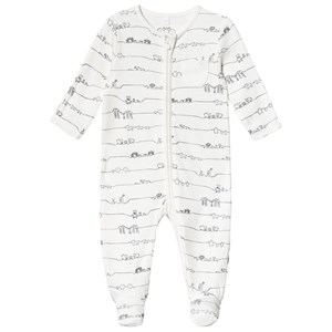 Image of Mori Animal Family Zip Up Footed Baby Body 0-3 months (3125341975)