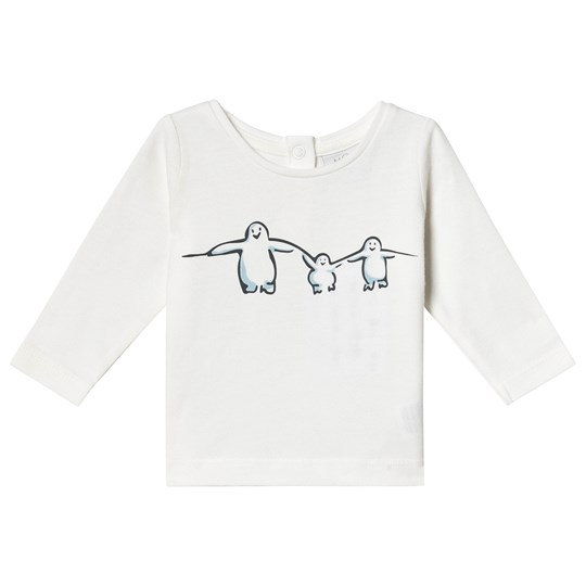 Mori Animal Family Long Sleeve Tee White