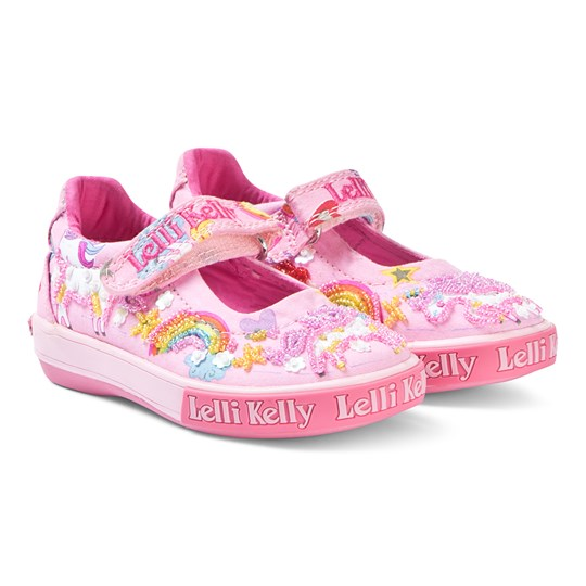 Lelli Kelly Multiglitter Rainbow Sparkle Shoes Pink