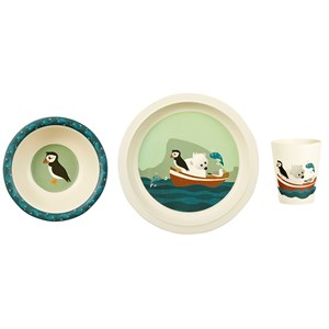 Image of Blafre Children´s Dinner Set Bamboo Puffin (3139764049)