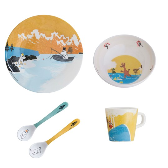 rattstart Forest & Lake Moomin Dinner Set Yellow Gul, multi