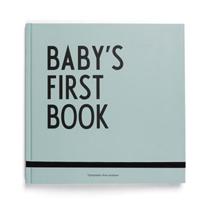 Image of Design Letters Baby´s First Book - Turquoise (3065504327)