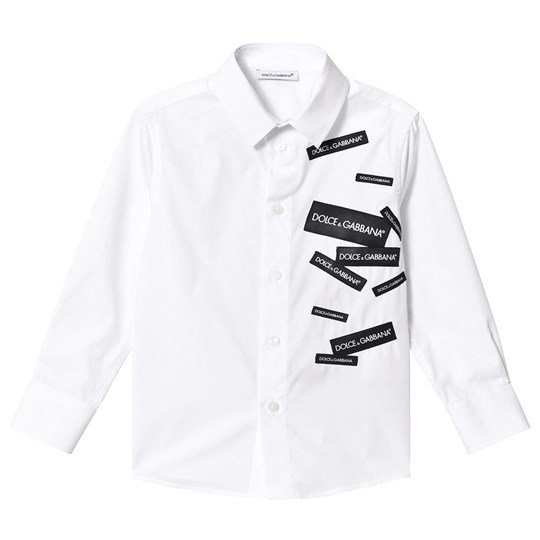 Dolce & Gabbana White Multi Label Logo Shirt W0800
