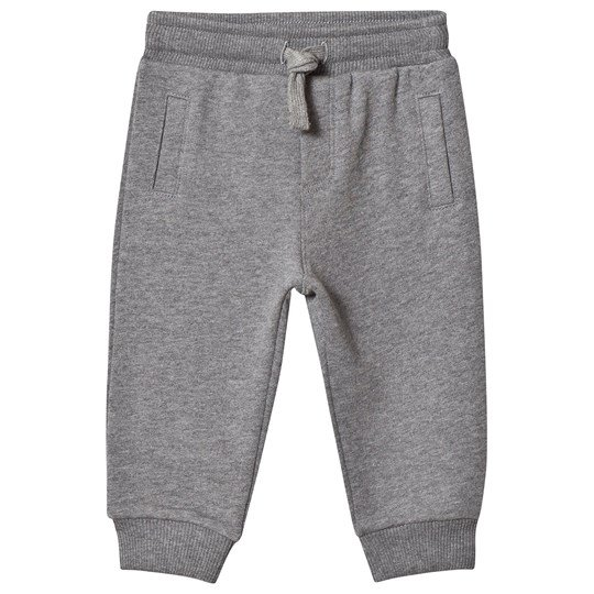 Dolce & Gabbana Grey Plaque Logo Sweatpants S8291