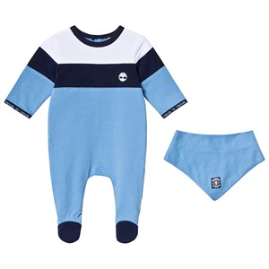 Image of Timberland Blue 2 Piece Babygrow And Bib Set 1 month (3125269245)