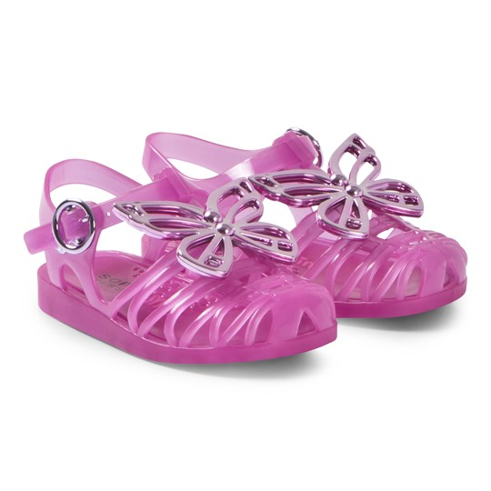 Sophia Webster Mini Fuchsia Riva Jelly Sandals Fuchsia