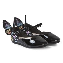 4ad7693212 Sophia Webster Mini Black Chiara Shoe With Butterfly Wing Detail Black    Rainbow