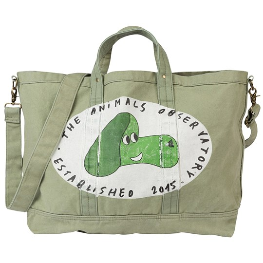 The Animals Observatory Big Canvas Tote Onesize Bag Military Green Dog Military Green Dog