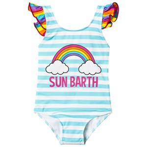 Image of MC2 St Barth Carol Swimsuit Blue and White 10 years (3125342387)