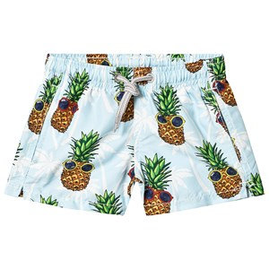 Image of MC2 St Barth Blue Summer Pineapple Trunks 10 years (3125336499)