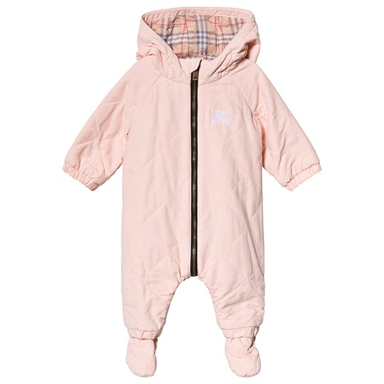 Burberry Dusty Pink Diamond Quilted Coverall A1419