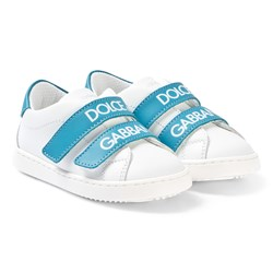 Dolce & Gabbana White and Blue Label Sneakers