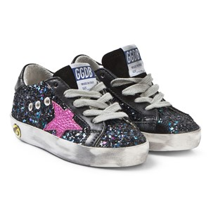 Image of Golden Goose Galaxy Glitter and Fuchsia Star Superstar Sneakers 23 (UK 6) (3125314865)