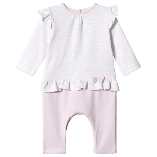 Absorba Pink and White Ruffle Babygrow 30