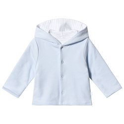 Absorba Reversible Pale Blue Stripe Hooded Cardigan