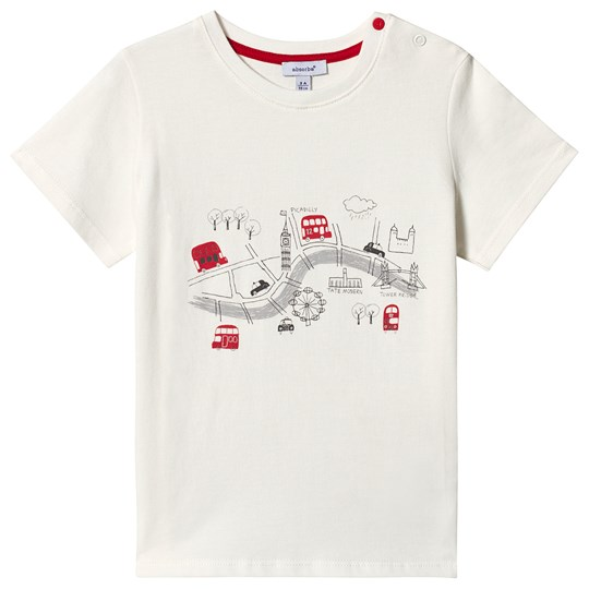 Absorba White London Map Print Tee 11