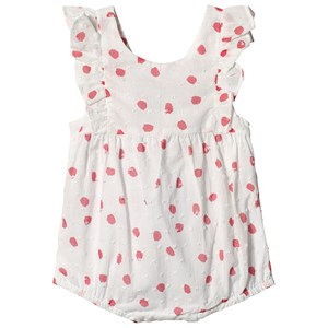 Image of Absorba White Dobby Spot Bubble Romper 12 months (3125325765)