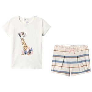 Image of Absorba Cream Tee and Shorts Set 6 months (3125309433)