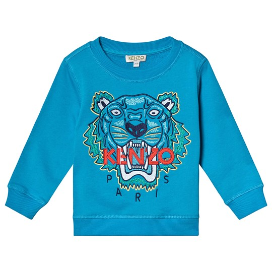 Kenzo Scuba Blue Embroidered Tiger Sweatshirt 50