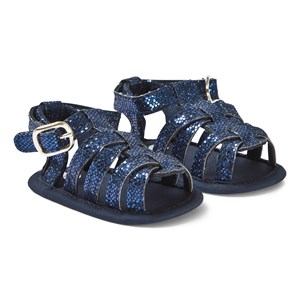 Image of Absorba Navy Glitter Crib Sandals 19-20 (18-24 months) (1290103)