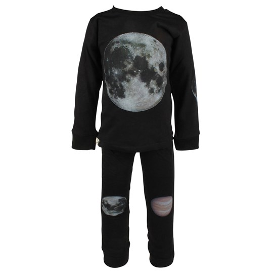 Popupshop Nightwear Set Black Black