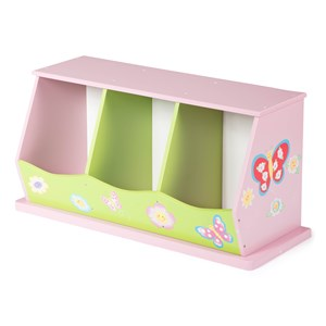Image of TH Furniture Cabinet with Three Bins Pink One Size (1217428)