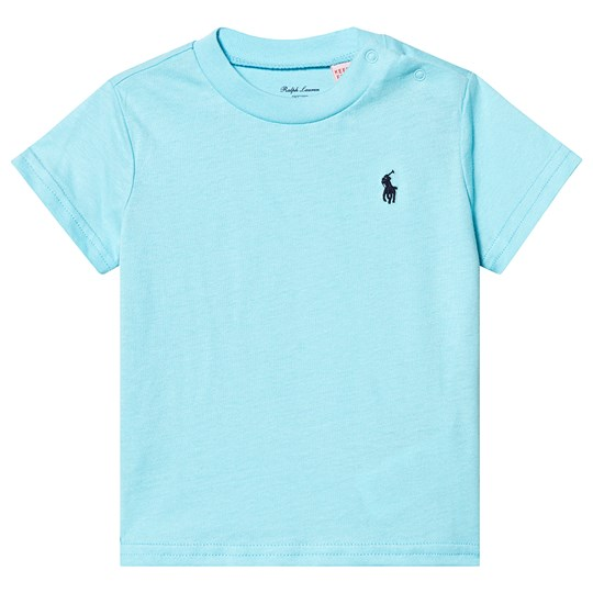 Ralph Lauren Turquoise Embroidered Logo Tee 017