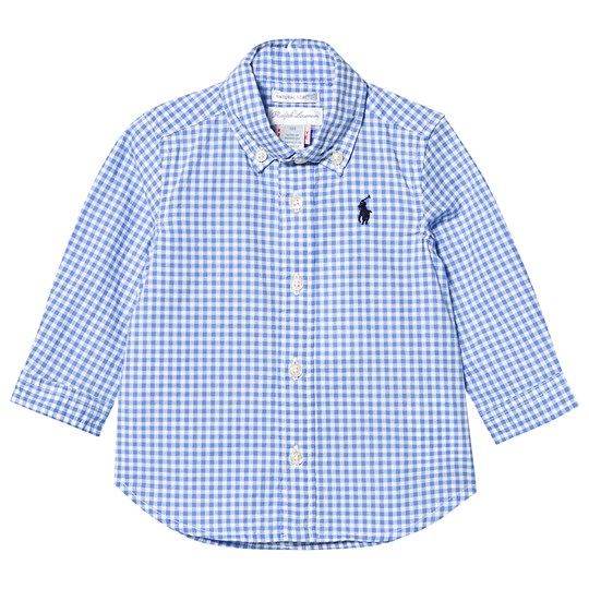Ralph Lauren Blue Gingham Shirt with Small PP 001