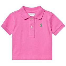 Ralph Lauren Pink Embroidered Logo Polo Shirt