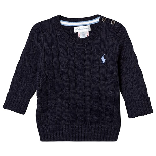 Ralph Lauren Navy Cable Knit Sweater 001