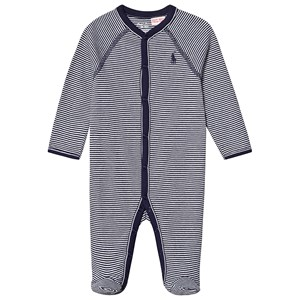Image of Ralph Lauren Navy Stripe Footed Baby Body 9 months (3125288707)