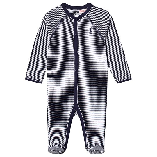 Ralph Lauren Navy Stripe Footed Baby Body 002