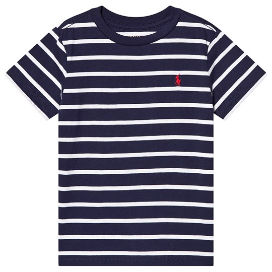 Ralph Lauren Navy and White Fine Stripe Tee 002