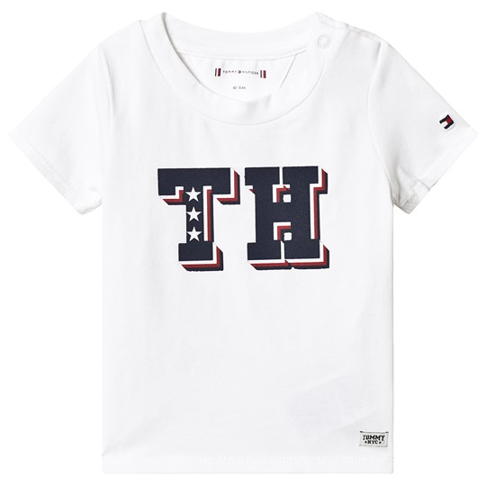 Tommy Hilfiger White TH Branded Tee 123