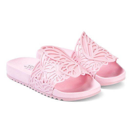 Sophia Webster Mini Lia Butterfly Slide Sandals Baby Pink Baby Pink