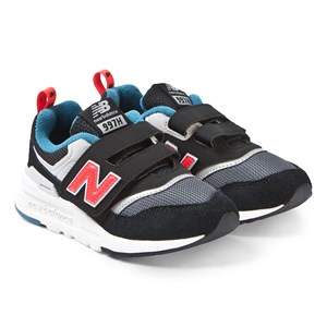 Image of New Balance Black and Red Velcro Sneakers 35 (UK 2.5) (3125314543)