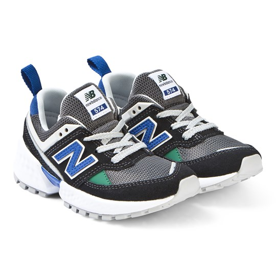best service dced4 8982b New Balance - 574 Sport Sneakers Black and UV Blue ...