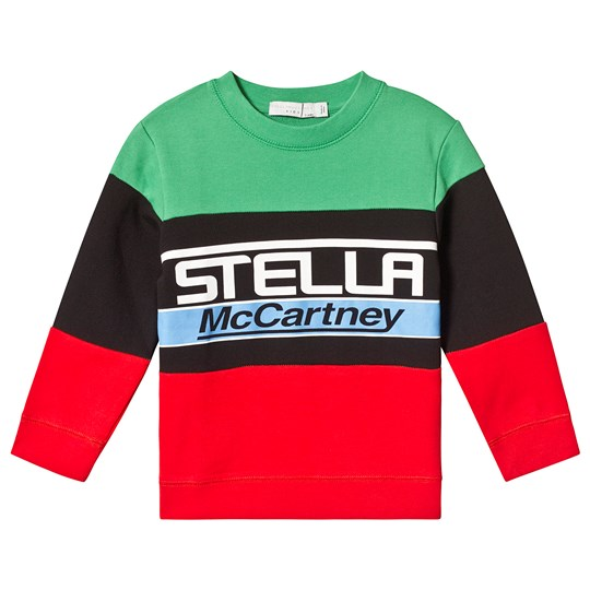 Stella McCartney Kids Multicolor Branded Sweatshirt 3741 - Palm Green