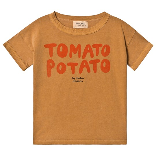 Bobo Choses Tomato Potato Short Sleeve T-Shirt Brown Sudan Brown