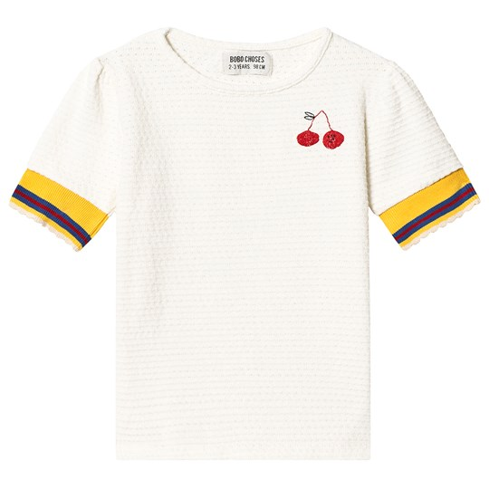 Bobo Choses Cherry T-Shirt Gardenia Gardenia