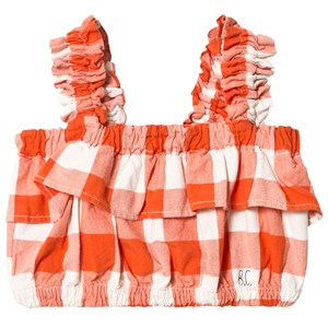 Image of Bobo Choses Ruffles Vichy Top Red Clay 2-3 år (1252089)