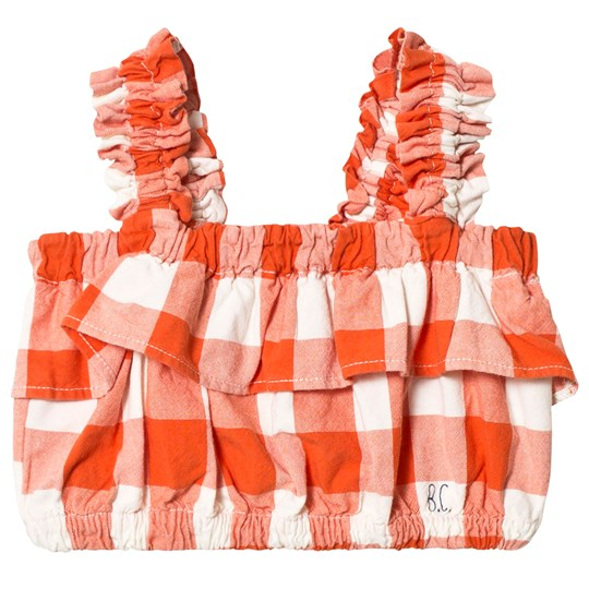 Bobo Choses Ruffles Vichy Top Red Clay Red Clay