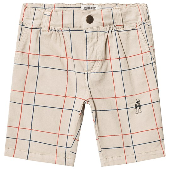Bobo Choses Lines Chino Bermuda Shorts Feather Gray Feather gray