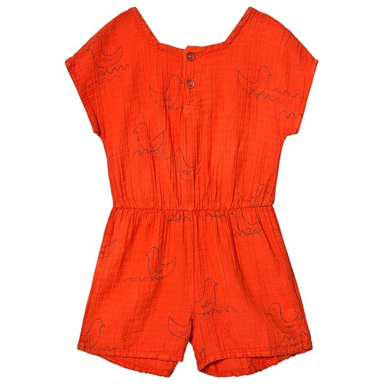 Bobo Choses Geese Romper Red Clay Red Clay