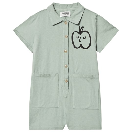 Bobo Choses Apple Pockets Romper Iceberg Green Iceberg Green