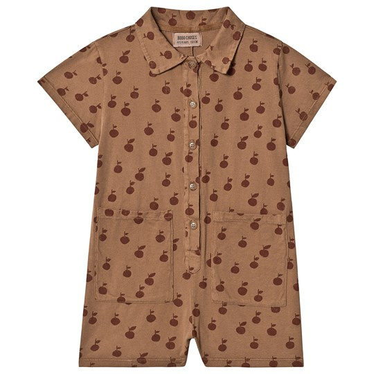 Bobo Choses Apple Pockets Romper Clove Clove