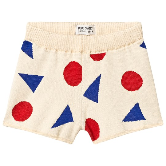 Bobo Choses Pollen Knitted Shorts Gardenia Gardenia