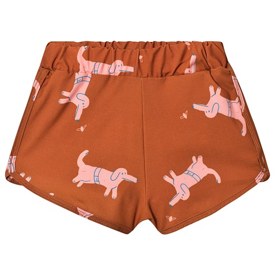 Bobo Choses Dogs Swim Trunks Red Clay Red Clay